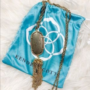 Kendra Scott Rayne Gold Long Pendant Necklace